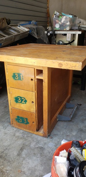Identifying a Table - what appears to be a homemade workbench