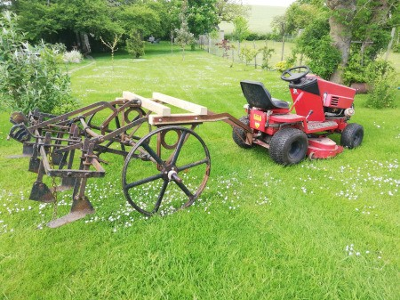 Identifying Old Farm Equipment - attached to a lawn tractor