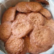 Ginger Cookies in lined tin