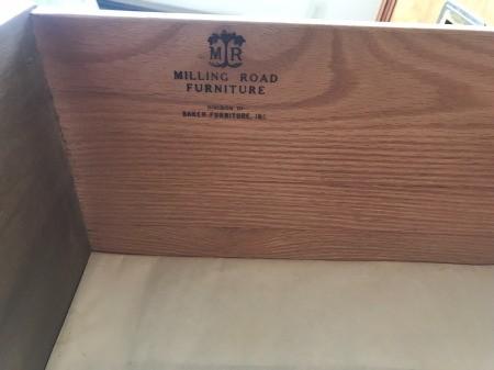 Value of Milling Road Baker Furniture Dresser