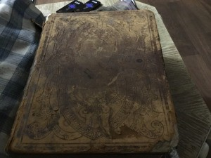 Value of an 1864 Unabridged Illustrated Dictionary - cover of a very old dictionary