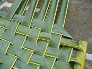 Weaving Coconut Leaf Plates - repeat