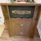 Value of a Vintage Majestic Radio with Record Player - upright cabinet radio and record player