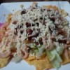 Nachos from Leftovers on plate