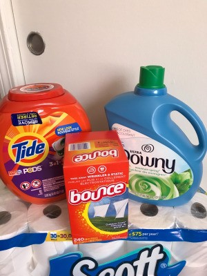 A collection of laundry purchases