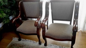 Determining the Value of Antique Furniture - reupholstered and refinished chairs