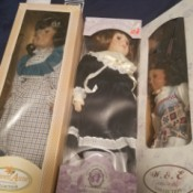 Finding the Value of Porcelain Dolls - three different dolls