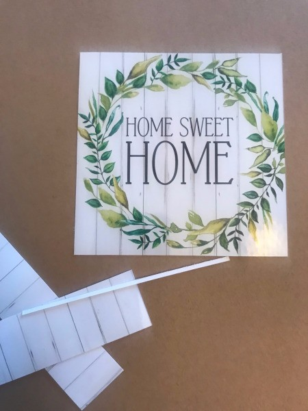 Home Sweet Home Framed Leaves Wall Hanging - print out the artwork of your choice