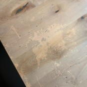 Repairing the Finish on a Wood Table - light damaged finish