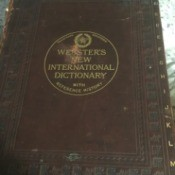 Value of 1910 Webster's New International Dictionary With Reference History - cover