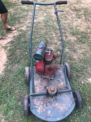Value of a Kick Start Lawn Mower - old gas powered mower