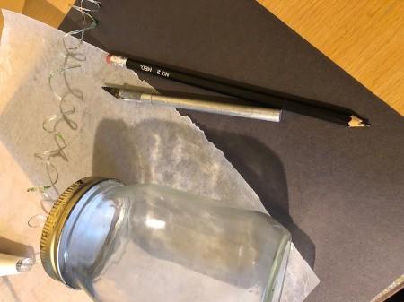 Paper-Cut Mason Jar Light - supplies