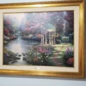 Value of a Thomas Kinkade Print - garden with stream and pond
