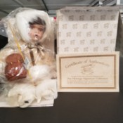 Value of Heritage Signature Doll and a Cabbage Patch Kid - doll wrapped in plastic