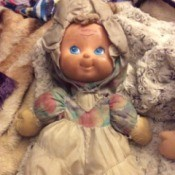 Identifying Vintage Childhood Dolls - soft bodied doll with molded plastic face