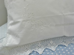 cleaning embroidered pillow cases