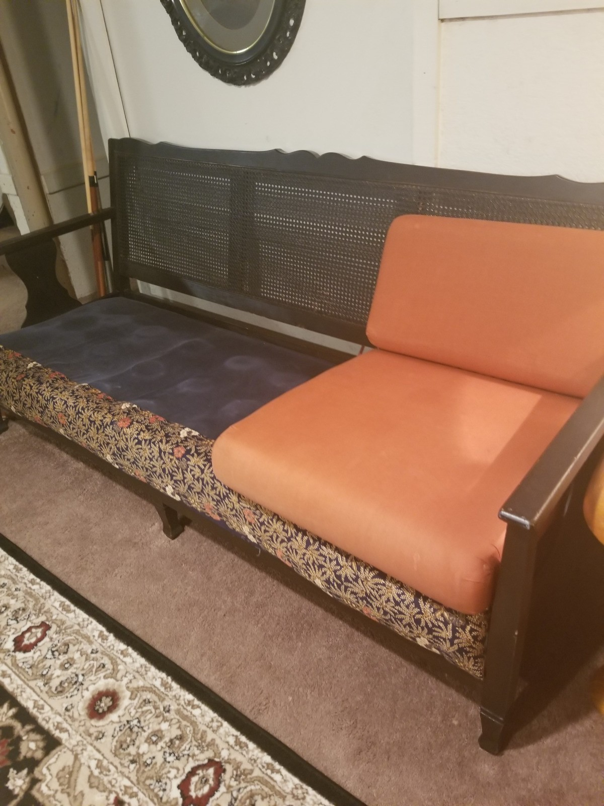 I Was Wondering About The Value Of This Rattan Backed Couch Believe It Is From Early 1960s M Not Sure But Would Love To Find Out History And