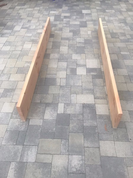 DIY Wooden Raised Garden Bed - wood for long sides
