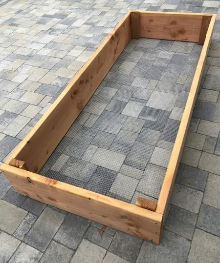 DIY Wooden Raised Garden Bed - finished raised bed framework
