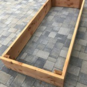 DIY Wooden Raised Garden Bed - finished raised bed framework