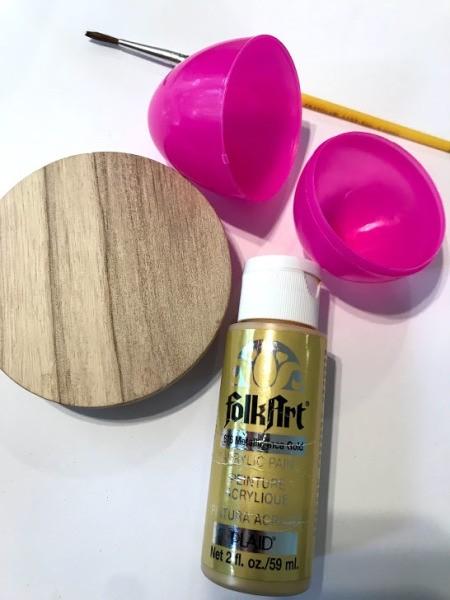 Upcycled Plastic Egg Mini Planter - supplies
