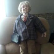 Value of a Goldenvale Porcelain Doll - old man doll