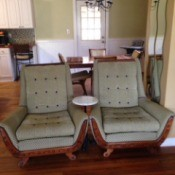 Identifying Upholstered Chairs - upholstered chairs with wood trim