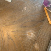 Repairing the Finish on a Table - finished removed on oak table by acetone