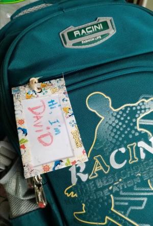 Waterproof Washi Tape Book Bag Tag - name tag on book bag