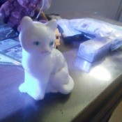 Value of a Signed by C. Moore Fenton Glass Cat