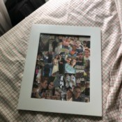 Making a Gift for My 15 Year Old Boyfriend - framed photo collage