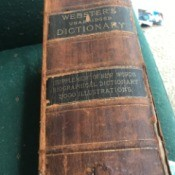Value of a Webster's 1882 Unabridged Dictionary