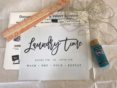Laundry Wood Accent Hanging Sign