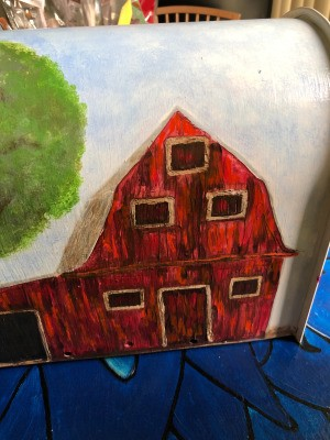 Sealant for Outdoor Acrylic Art Project - painted barn on a mailbox
