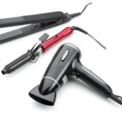 Three hair tools that use heat.