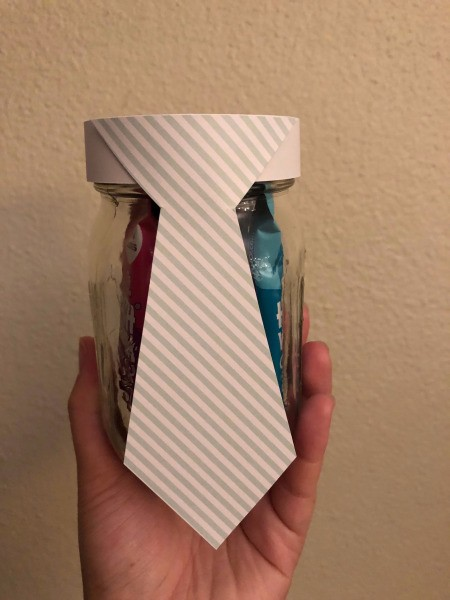 Father's Day Favor Gift Jar - finished gift jar