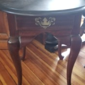 Value of an Antique Table - four legged side table with round top