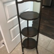 Value of an Antique 3 Tier Table - dark wood round tiered table