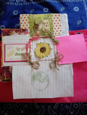 Use Tacky Glue for Ribbons on Craft Cards - paper collage