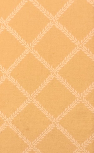 Finding Discontinued Wallpaper - gold paper with a leaf pattern creating diamonds