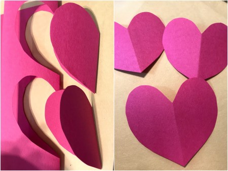 Heart Flowers Decoration - fold paper and cut out heart shapes