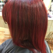 Hair Too Red After Coloring - streaks of very red hair after dyeing