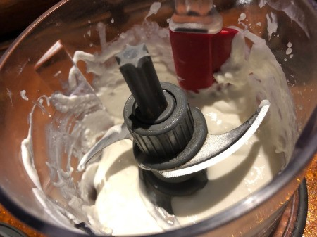 pulsing Cottage Cheese in food processor