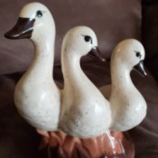 Identifying the Maker of a Geese Figurine - ceramic figurine of three geese