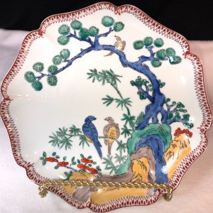 Identifying a Hand Painted Japanese Plate  - plate with tree and birds