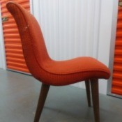 Identifying Vintage Dining Chairs - orange upholstered chair