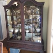 Value of an Antique Hutch - ornate breakfront