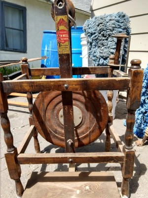 Value of Spin-Well Spinning Wheel - wooden spinning wheel