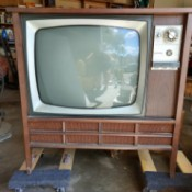 Value of Electrohome Black and White TV - vintage console TV