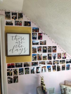 A photo wall